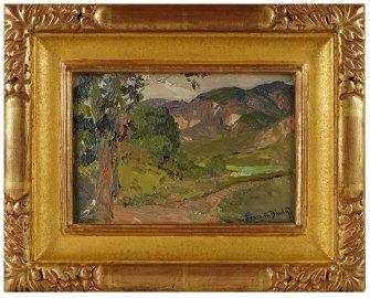 """FRANZ BISCHOFF (1864 - 19290: """"GREEN VALLEY"""""""
