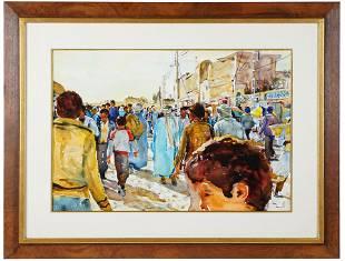 "SHIRL GOEDIKE (B. 1923): ""STREET OF EL OVED"""