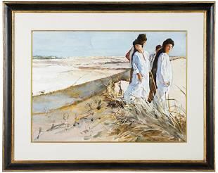 "SHIRL GOEDIKE (B. 1923): ""DUNES OF THE SAHARA"""