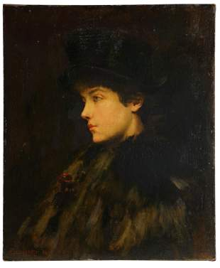 ADOLPH BIRKENRUTH (1861 - 1940): PORTRAIT OF A WOMAN