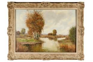 JOSEF KROTTER (B. 1894): RIVER LANDSCAPE
