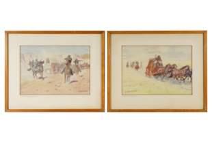 LEONARD HOWARD REEDY (1899 - 1956): TWO WESTERN SCENES