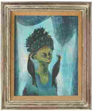 "KARL PRIEBE (1914 - 1976): ""ST. ELLA WITH BLACK"