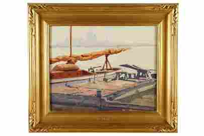 "SAMUEL HYDE HARRIS (1889 - 1977): ""UNFURLED SAIL"""