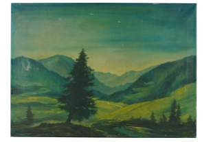 SEPP FRANK (1889-1970): UNTITLED (MOUNTAIN LANDSCAPE