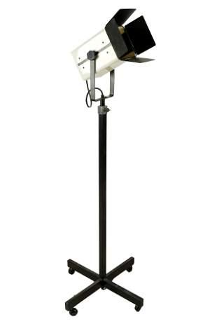 MODERNIST BLACK & WHITE METAL FLOOR LAMP