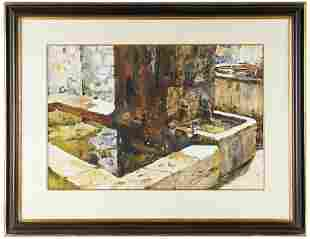 SHIRL GOEDIKE (B. 1923): STONE FOUNTAIN