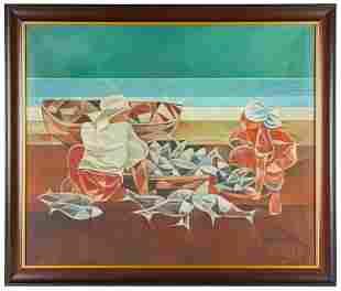 OSCAR DEVEZA ZALAMEDA (1930 - 2010): FISHERWOMEN