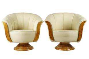 PAIR OF ART DECO-STYLE ARMCHAIRS