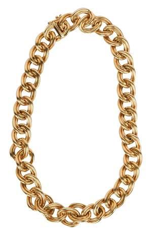 14 KARAT YELLOW GOLD LINK NECKLACE