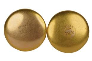 PAIR OF TIFFANY & CO. 18 KARAT YELLOW GOLD SHIRT STUDS