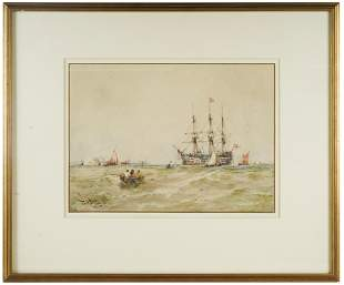 "THOMAS BUSH HARDY (1842-1897): ""THE OLD GUARD SHIP"""
