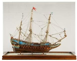 "MODEL OF THE SWEDISH WARSHIP ""WASA"""