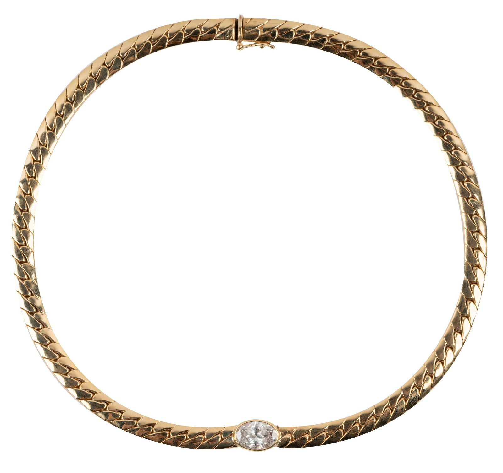 14 KARAT YELLOW GOLD & DIAMOND NECKLACE