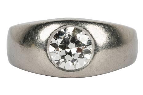 PALLADIUM & DIAMOND RING