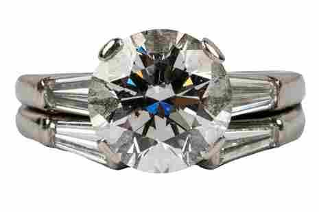 TIFFANY & CO. DIAMOND & PLATINUM RING