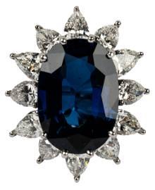 TIFFANY & CO. SAPPHIRE & DIAMOND RING