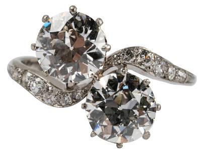 PLATINUM & DIAMOND BYPASS RING