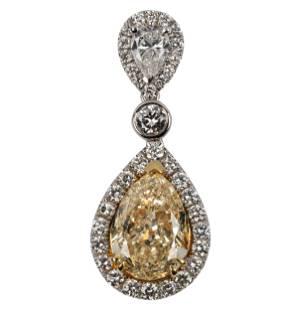 18 KARAT WHITE GOLD & DIAMOND PENDANT