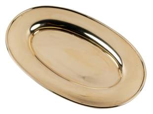 GORHAM: 14 KARAT YELLOW GOLD OVAL DISH