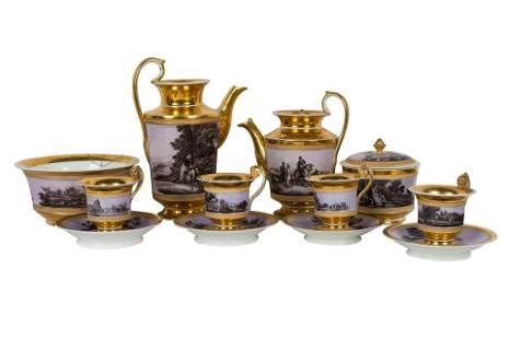 RUSSIAN PORCELAIN TEA SERVICE