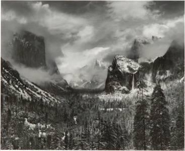 ANSEL ADAMS (1902 - 1984): CLEARING WINTER STORM,