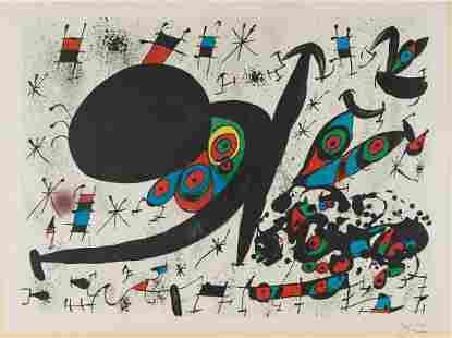 "JOAN MIRO (1893 - 1983): ""HOMENTAGE A JOAN PRATS [PLATE"