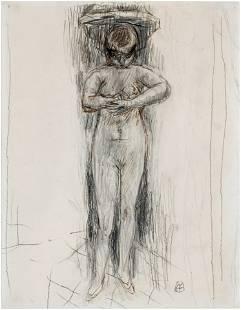"PIERRE BONNARD (1867-1947): ""MARTHE A SA TOILETTE"""