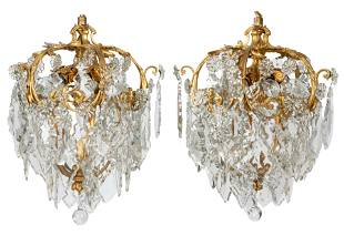 PAIR OF FRENCH EIGHT-LIGHT CHANDELIERS