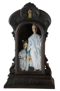 SPANISH COLONIAL-STYLE MADONNA & CHILD GROUP