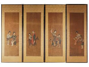 FOUR CHINESE PANELS