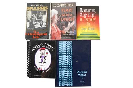 CAROL CHANNING GROUP OF BOOKS SIGNED TO HER