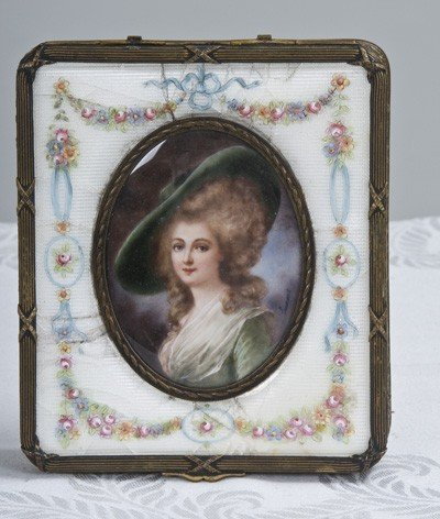 2: FRENCH ENAMELED AND GILT METAL BOX