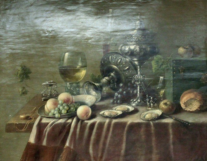 6: STILL LIFE WITH A BOWL OF FRUIT, OYSTERS, AND CHALIC