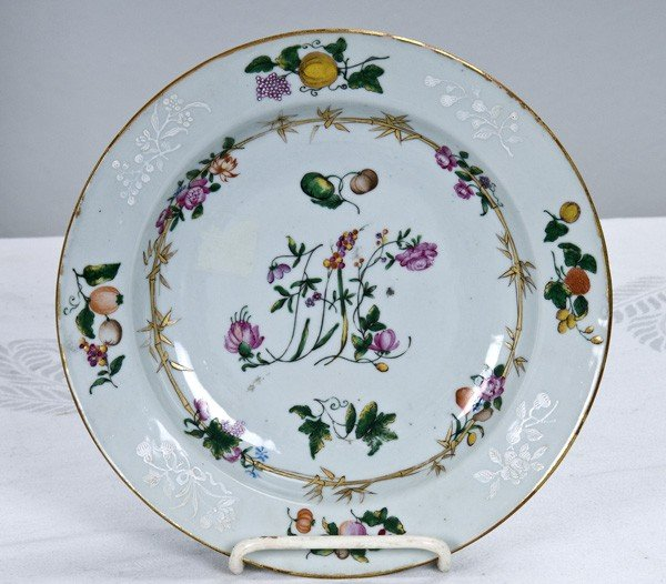 4: CHINESE EXPORT PORCELAIN PLATE