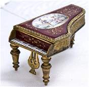 249 AUSTRIAN ENAMEL  GILT METAL PIANOFORM BOX