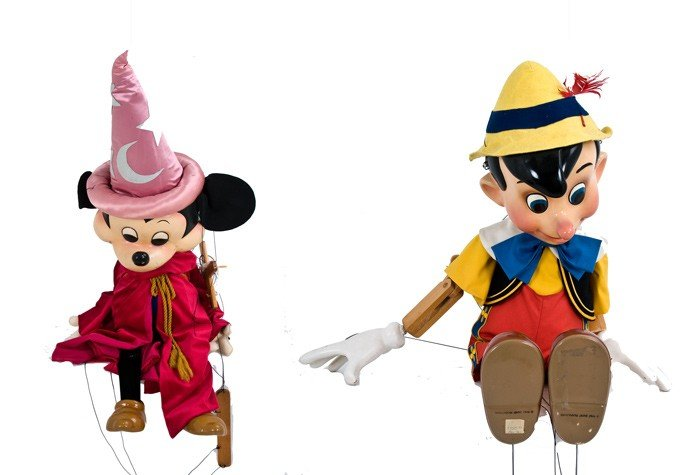 6: BOB BAKER: PINOCCHIO AND MICKEY MARIONETTES