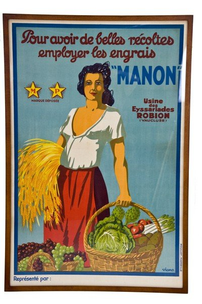 17: MANON: MOULLOT- MARSEILLE POSTER