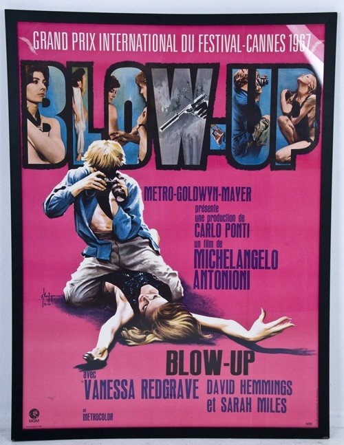 24: BLOW-UP FRENCH FILM POSTER