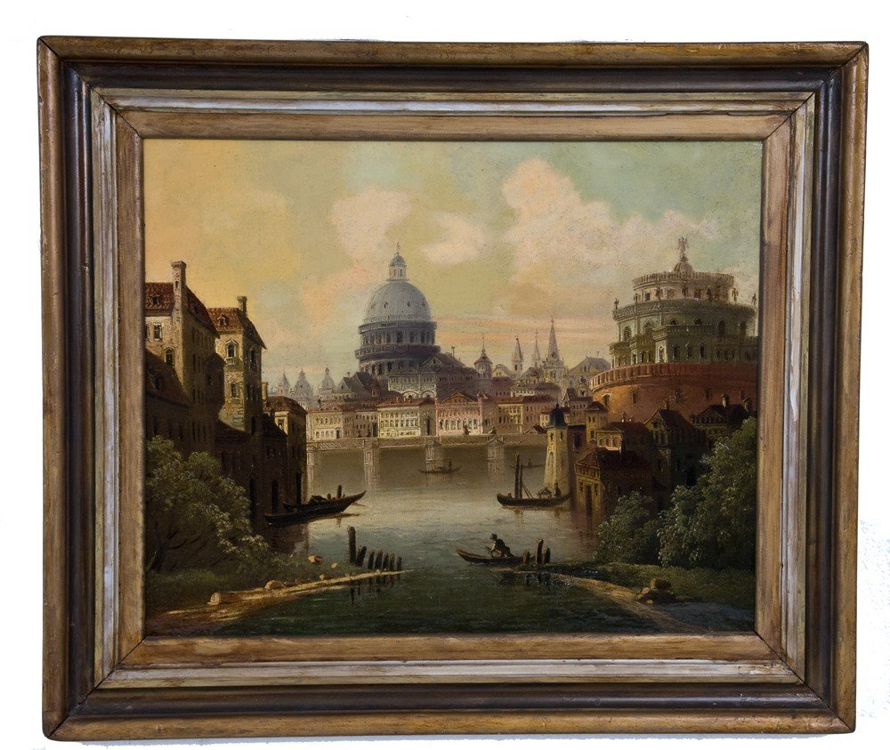"346: IN THE MANNER OF ANTONIO JOLI: ""VIEW OF THE TIBER"""