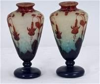 4: PAIR OF LA VERRE FRANCAIS CAMEO GLASS VASES