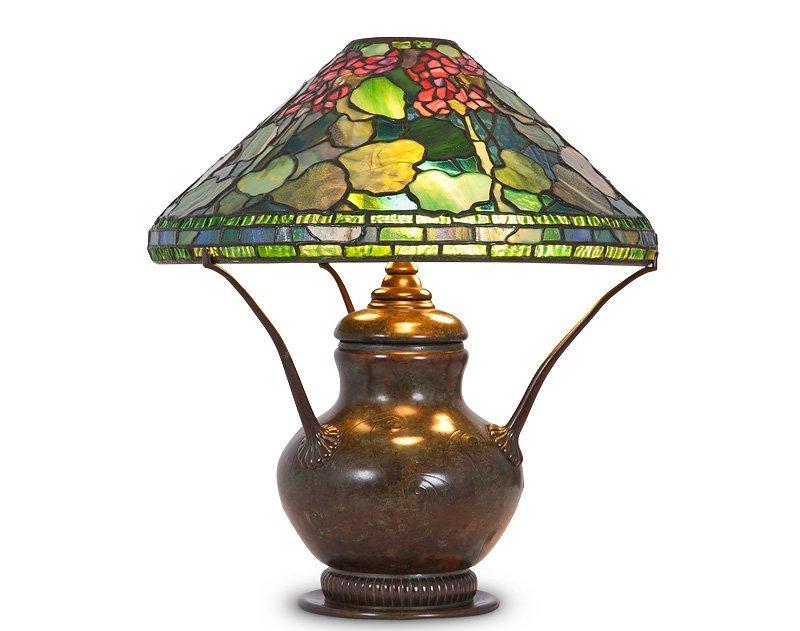 "194: TIFFANY STUDIOS ""GERANIUM"" TABLE LAMP"