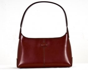 TOD'S  BRICK RED PATENT LEATHER SHOULDER BAG