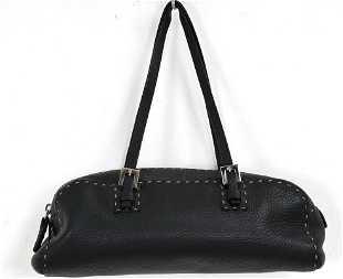4 Fendi Gray Leather Pochette