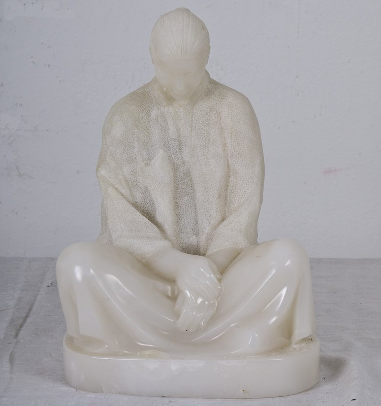 "FELIPE CASTANEDA:  ""SEATED FIGURE"""