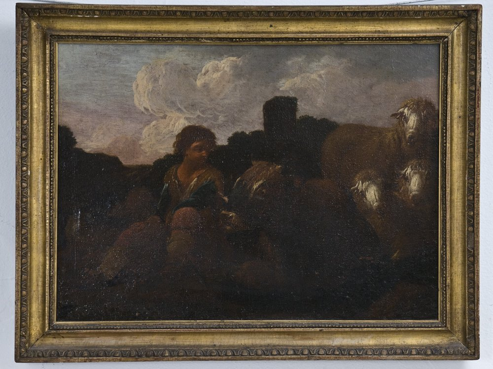 SHEPHERD BOY WITH FLOCK