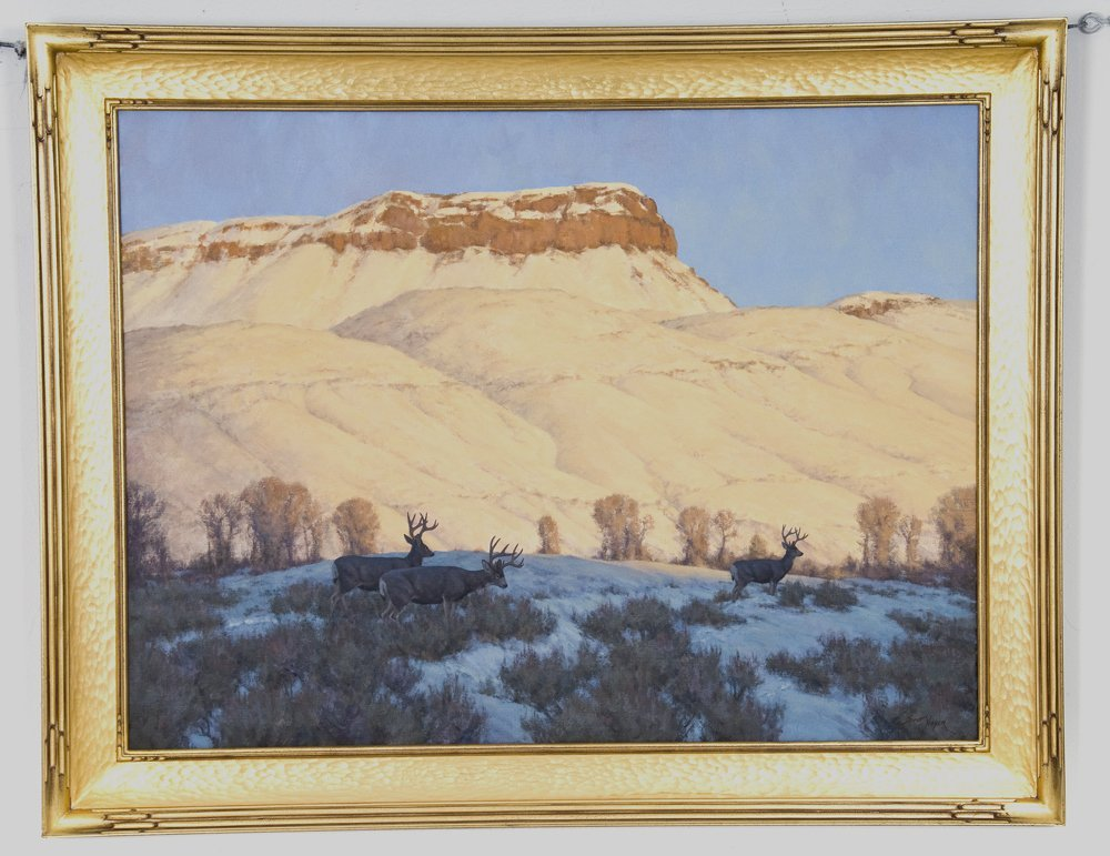 "SCOTT YEAGER: ""WINTER RANGE-- MULE DEER"""