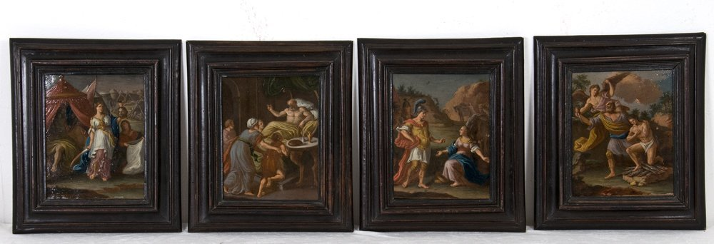 SET OF FOUR OLD MASTER PAINTINGS