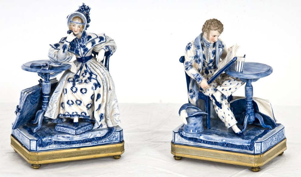 TWO FRENCH PORCELAIN FIGURES
