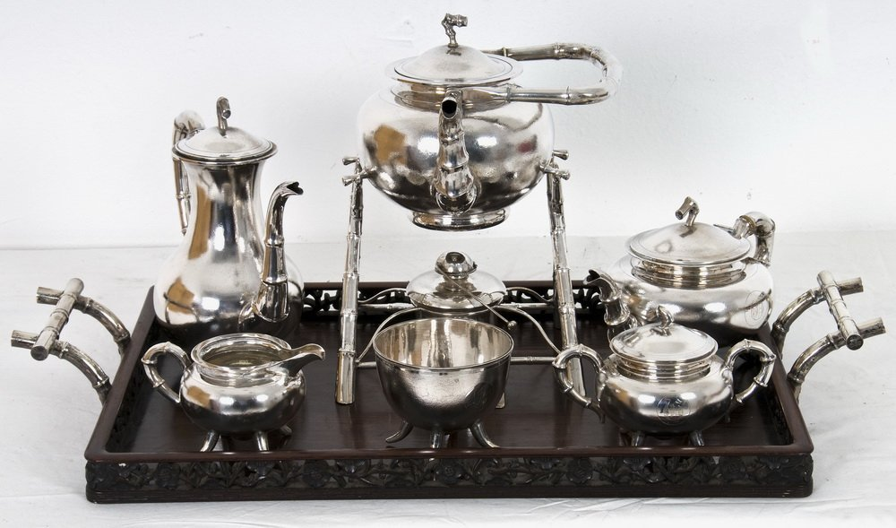 CHINESE EXPORT SILVER TEA SERVICE